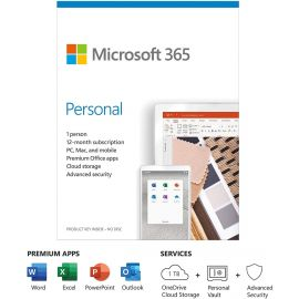 Used Microsoft 365 Personal | Office 365 apps | 1 user | 1 year subscription | PC/Mac, Tablet and phone | multilingual | box