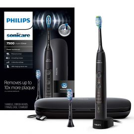 Used Philips Sonicare HX9690/05 ExpertClean 7500 Bluetooth Rechargeable Electric Toothbrush, Black