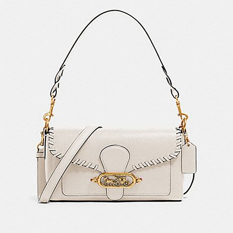 COACH 91025 SMALL JADE SHOULDER BAG WITH WHIPSTITCH IN CHALK