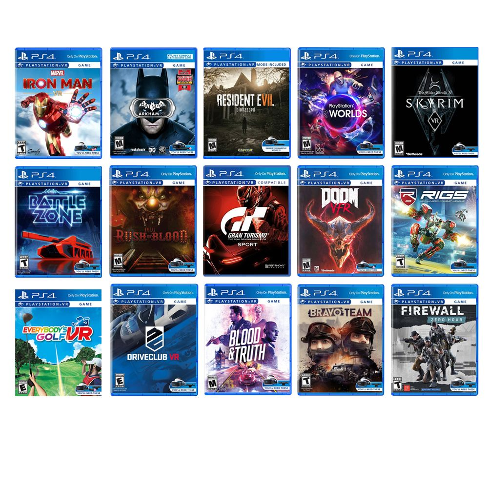 PlayStation VR Deluxe Bundle: VR Headset, Camera, Choose Your Games and Controllers!